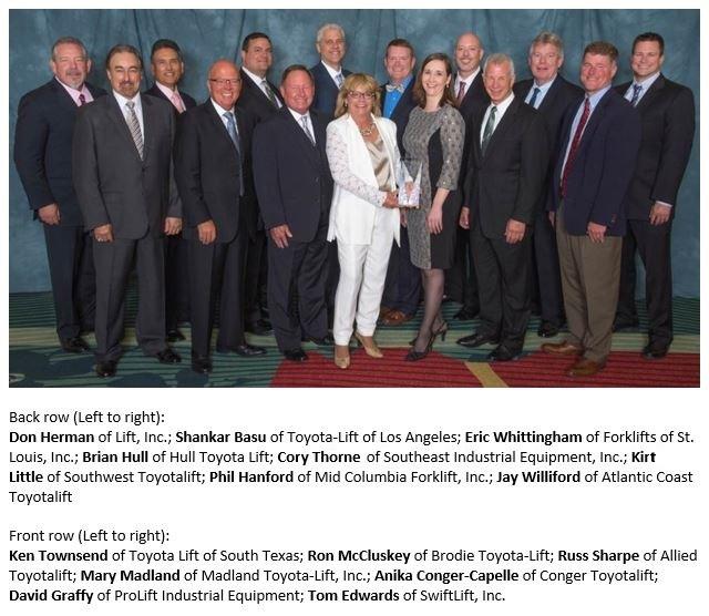 2015 Toyota President's Award Winners